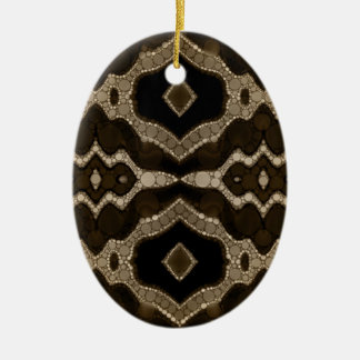 Rich Sofia Abstract Pattern Ceramic Oval Decoration