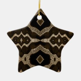 Rich Sofia Abstract Pattern Ceramic Star Decoration