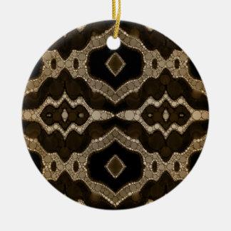 Rich Sofia Abstract Pattern Round Ceramic Decoration