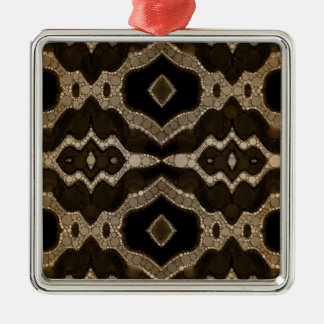 Rich Sofia Abstract Pattern Silver-Colored Square Decoration
