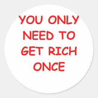 rich round sticker