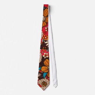 Rich sumptuous vintage floral textile pattern tie