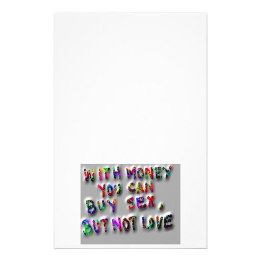 Rich with Money - Poor in Love Personalized Stationery