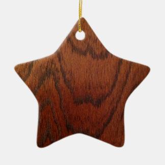 Rich Wood Design Ceramic Star Decoration