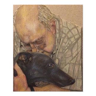 Richard and Ronnie Greyhound Photograph