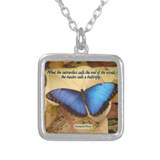 Richard Bach-The Caterpillar Square Pendant Necklace