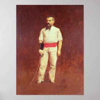 Richard Burton  in Fencing Dress, 1889 Poster
