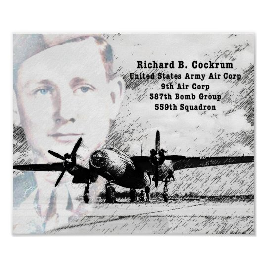 Richard Cockrum Air Force Poster