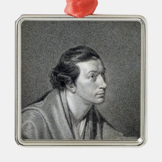 Richard Cumberland, engraved by James Hopwood Silver-Colored Square Decoration