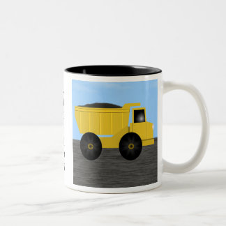 Richard Dump Truck Personalized Name Mug