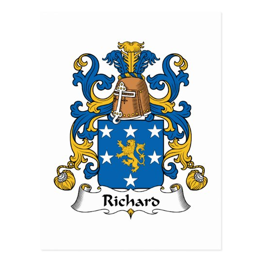 Richard Family Crest Postcard