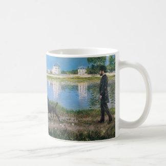 Richard Gallo and His Dog - Gustave Caillebotte Coffee Mug
