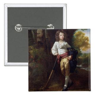 Richard Heber, 1782 (oil on canvas) 15 Cm Square Badge