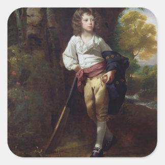 Richard Heber, 1782 (oil on canvas) Square Sticker