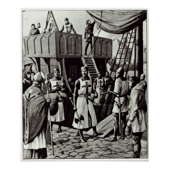 Richard I sets sail for the Holy Land,