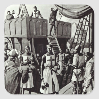 Richard I sets sail for the Holy Land, 1939 Square Sticker