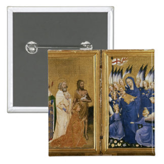 Richard II Presented to the Virgin and Child 15 Cm Square Badge