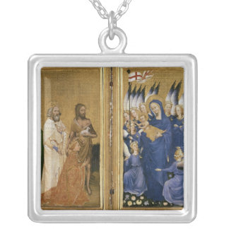 Richard II Presented to the Virgin and Child Silver Plated Necklace