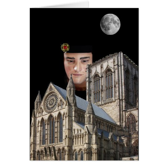 Richard III above York Minster Card