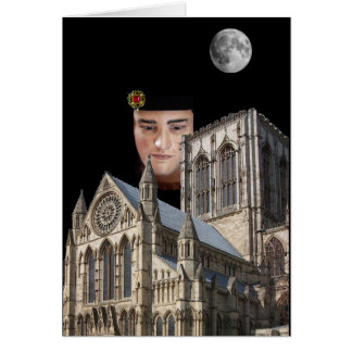 Richard III above York Minster Greeting Card