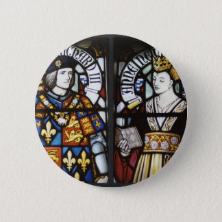 RICHARD III AND QUEEN ANNE OF ENGLAND 6 CM ROUND BADGE
