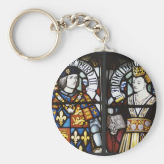 RICHARD III AND QUEEN ANNE OF ENGLAND BASIC ROUND BUTTON KEY RING