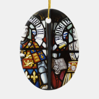 RICHARD III AND QUEEN ANNE OF ENGLAND CHRISTMAS ORNAMENT