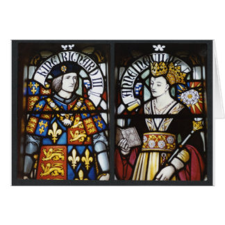 RICHARD III AND QUEEN ANNE OF ENGLAND GREETING CARD
