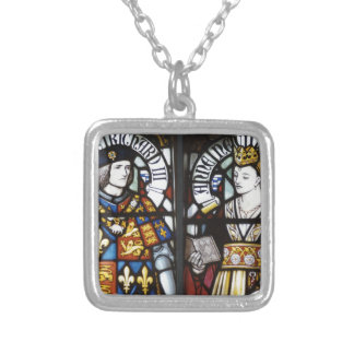 RICHARD III AND QUEEN ANNE OF ENGLAND SQUARE PENDANT NECKLACE