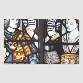 RICHARD III AND QUEEN ANNE OF ENGLAND RECTANGLE STICKER