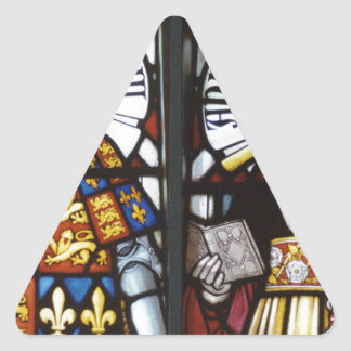 RICHARD III AND QUEEN ANNE OF ENGLAND TRIANGLE STICKERS