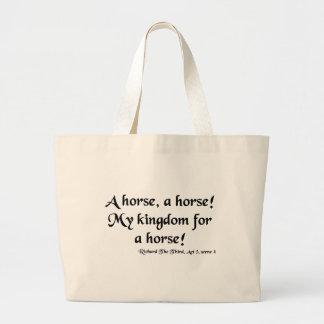 "Richard III ""My Kingdom for a Horse"" Items Jumbo Tote Bag"