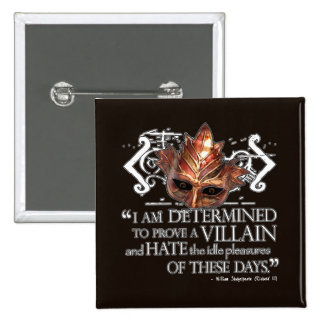 Richard III Quote 15 Cm Square Badge