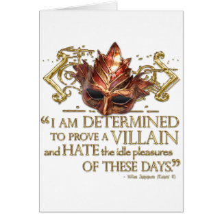 Richard III Quote (Gold Version) Note Card