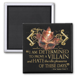 Richard III Quote (Gold Version) Square Magnet
