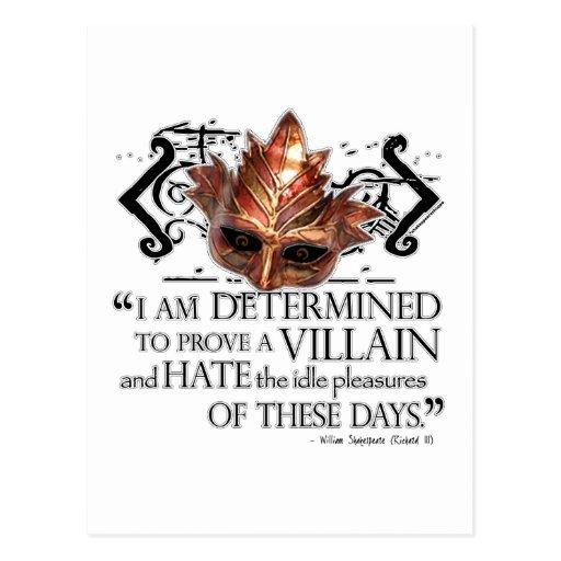 Richard III Quote Post Card