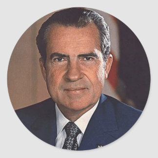 Richard M. Nixon Classic Round Sticker