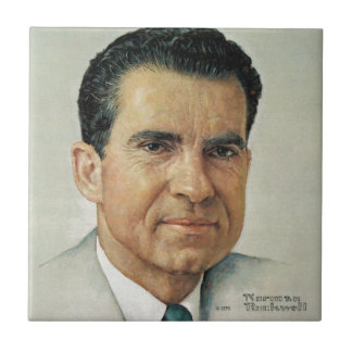 Richard Milhouse Nixon Small Square Tile