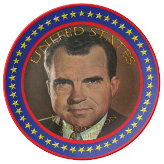 Richard Nixon 37th President Plate