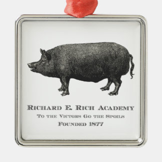 Richard Rich Academy Pig Logo Ornaments
