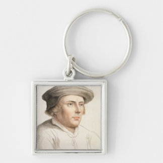 Richard Rich, First Baron Rich (c.1496-1567) engra Silver-Colored Square Key Ring