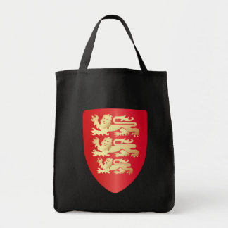 Richard the Lion Heart Shield in red+faux gold Grocery Tote Bag