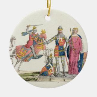 Richard the Lionheart, John of Gaunt, Edward III, Round Ceramic Decoration