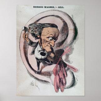 Richard Wagner splitting the ear drum of world Poster