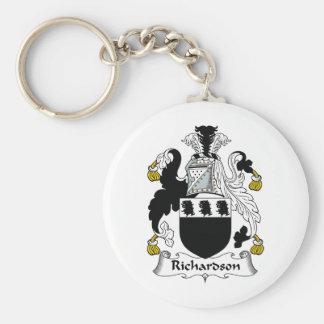 Richardson Family Crest Basic Round Button Key Ring