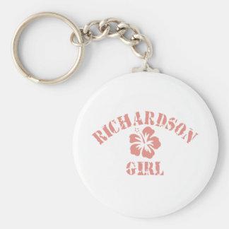 Richardson Pink Girl Basic Round Button Key Ring