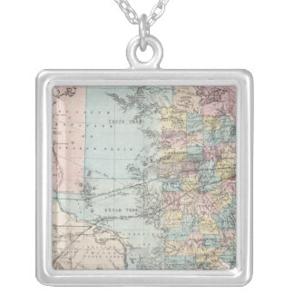 Richardson's New Map Of The State Of Texas Silver Plated Necklace