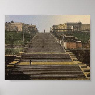 Richelieu Stair, Odessa, Russia, (i.e., Ukraine) c Poster