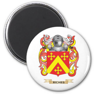 Riches Coat of Arms (Family Crest) 6 Cm Round Magnet