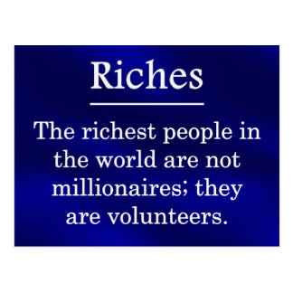 Riches from Volunteering Postcard